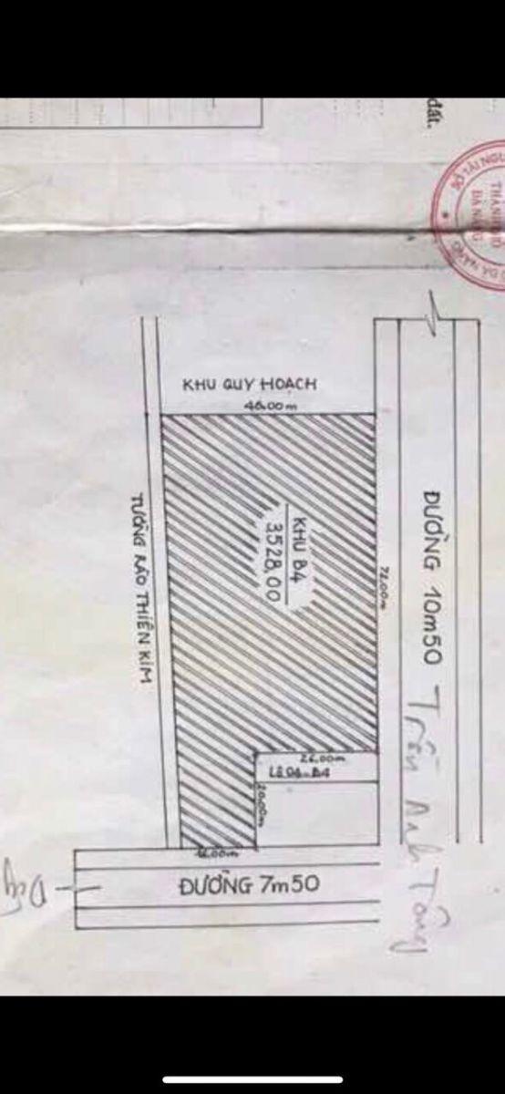 Bán lô đất 2 MT đường Dũng Sĩ Thanh Khê và Trần Anh Tông