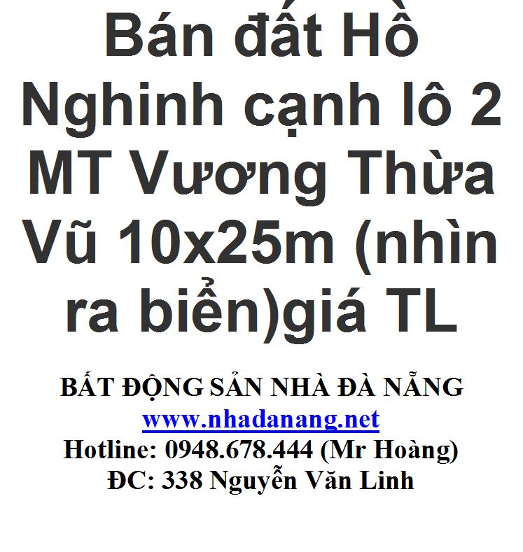 Bán đất đường Hồ Nghinh Đà Nẵng
